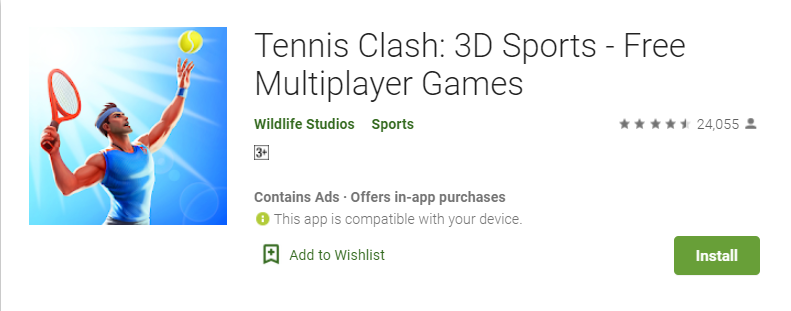 Tennis Clash For PC