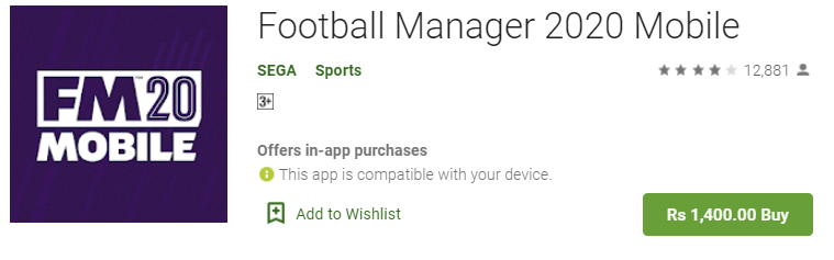 Football Manager 2020 For PC